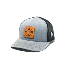 See Details - GMG Light Grey Trucker Hat w/ Leather Patch
