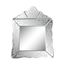 View Product - Small Scroll Trim Square Venetian Mirror