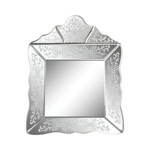 See Details - Small Scroll Trim Square Venetian Mirror