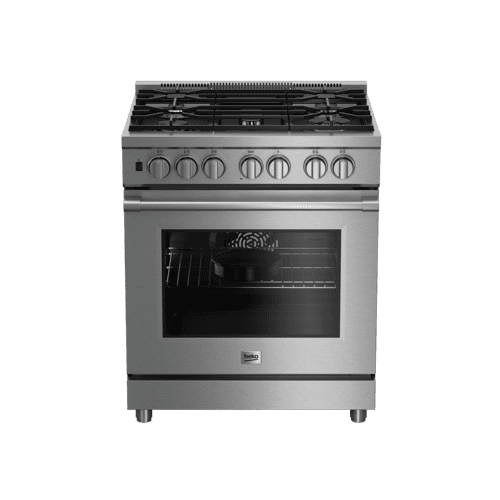 "30"" Stainless Steel Pro-Style Dual Fuel Range"