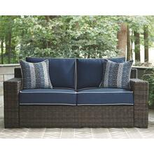 Grasson Lane Loveseat w/Cushion Brown/Blue