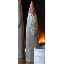 Medium Wood Carved Santa
