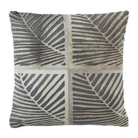 Palm Cowhide Pillow - White