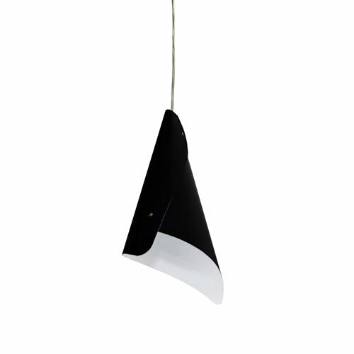 1lt Cone Pendant Jtones Black, Polished Chrome