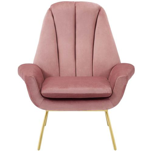 Summit Accent Performance Velvet Armchair in Dusty Rose
