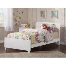 View Product - Orlando Twin XL Bed with Matching Foot Board in White