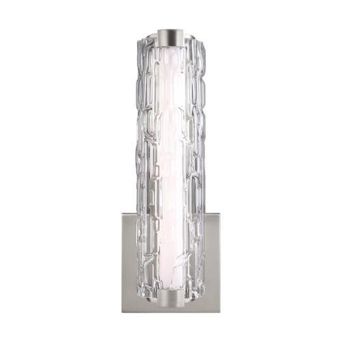 """Cutler 13"""" LED Sconce Satin Nickel Bulbs Inc"""