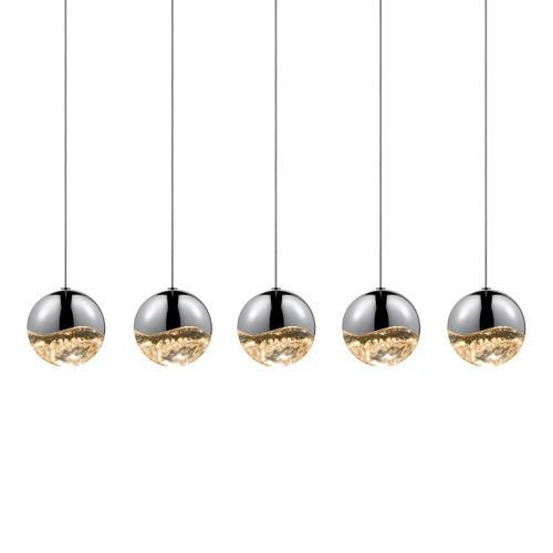 Sonneman - A Way of Light - Grapes® LED Pendant [Size=5-Light Large, Color/Finish=Polished Chrome, Shape=Rectangle Canopy]