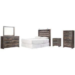 Ashley - Queen Panel Headboard With Mirrored Dresser, Chest and Nightstand