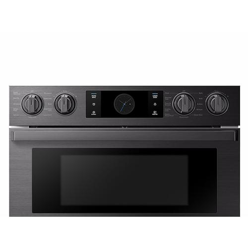 "30"" Flex Duo™ Chef Collection Microwave Combination Wall Oven in Matte Black Stainless Steel"
