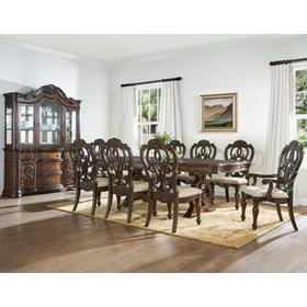 Formal Table group includes two arm chairs and four side chairs.