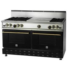 """60"""" BlueStar - Residential Nova Burner (RNB) - French Top Gas Range with 4.5 Cu. Ft. Convection Ovens"""
