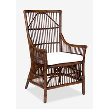 Product Image - Winston Rattan High Back Arm Chair - Antique Brown(24x27x43)