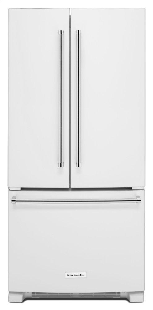 KitchenAid22 Cu. Ft. 33-Inch Width Standard Depth French Door Refrigerator With Interior Dispenser - White