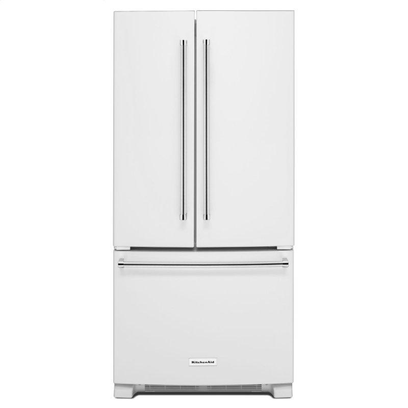 22 Cu. Ft. 33-Inch Width Standard Depth French Door Refrigerator with Interior Dispenser - White