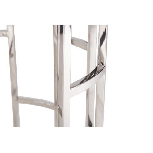 Modrest Silvan Modern Marble & Stainless Steel End Table