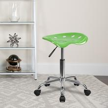 View Product - Vibrant Spicy Lime Tractor Seat and Chrome Stool