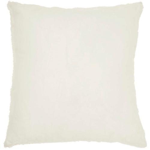 "Fur Vv614 Ivory Gold 18"" X 18"" Throw Pillow"