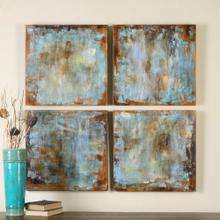View Product - Accent Tiles Hand Painted Canvases, S/4