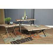 Callista- Rectangular Console Table- Beach/Natural Metal Product Image
