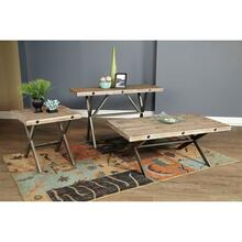 Callista- Rectangular Console Table- Beach/Natural Metal