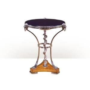 Theodore Alexander - A superb stainless steel lamp table - Blue Glass & Stainless Steel