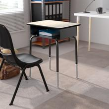 See Details - Student Desk with Open Front Metal Book Box - Gray
