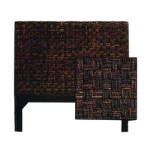 King Size Headboard, Checker Board Dark Finish Only.