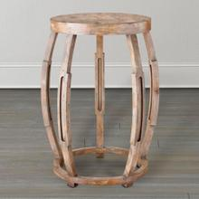 Distressed Open Accent Table