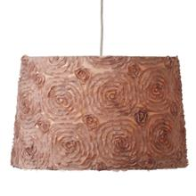 Floral Organza Trim Hanging Pendent Lamp. 100W Max