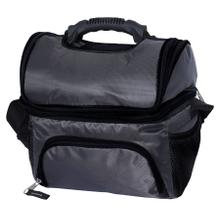 See Details - Brentwood Kool Zone CB-12GRY 12-Can Insulated Cooler Bag with Extra Storage, Grey