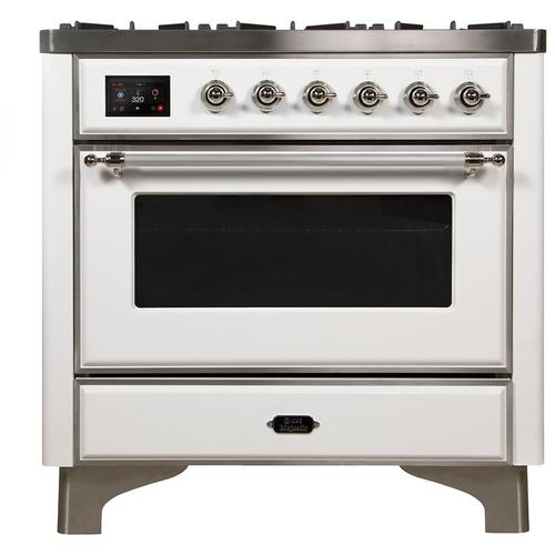 "36"" Inch White Natural Gas Freestanding Range"