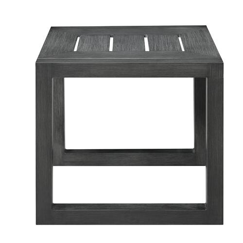 Rockport Outdoor End Table, Pewter Gray Ot1103-01
