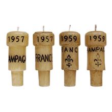Epicureanist Champagne Cork Candles (Set of 4)