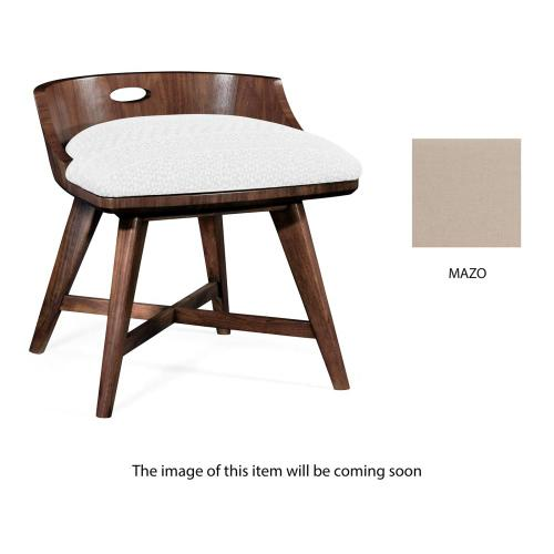 Vanity chair upholstered in Mazo
