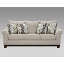 Camero Platinum Fabric Pillowback Sofa