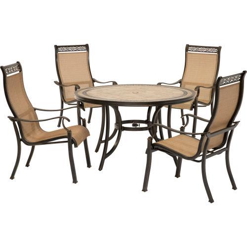 Hanover Monaco 5-Piece Outdoor Dining Set, MONACO5PC