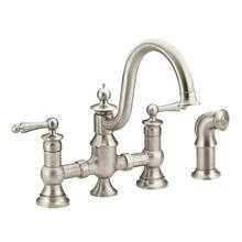 Waterhill spot resist stainless two-handle kitchen faucet