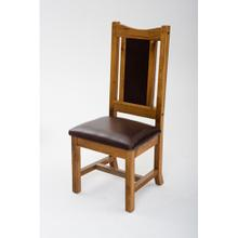 Mustang Canyon Side Chair With Leather Seat