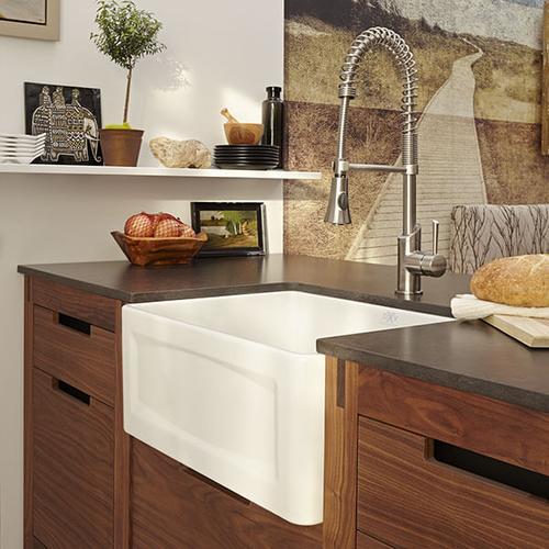 Dxv - Hillside 24 Inch Apron Kitchen Sink - Canvas White