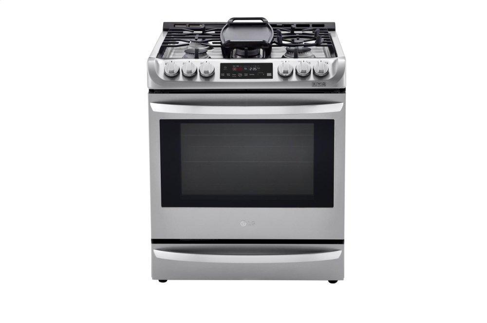 LG Appliances6.3 Cu. Ft. Smart Wi-Fi Enabled Dual Fuel Slide-In Range With Probake Convection® And Easyclean®