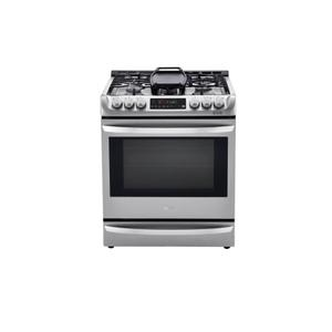 LG Appliances 6.3 cu. ft. Smart wi-fi Enabled Dual Fuel Slide-in Range with ProBake Convection® and EasyClean®