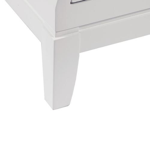 Modern 3 Drawer Bombe Chest in White