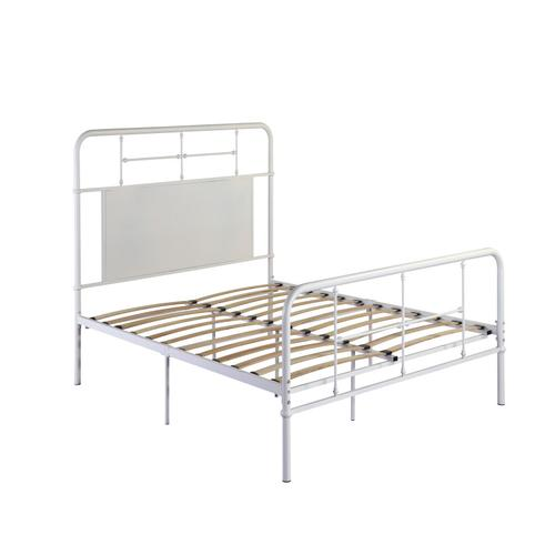 4/6 Full Iron Headboard-footboard-rails-whte Finish