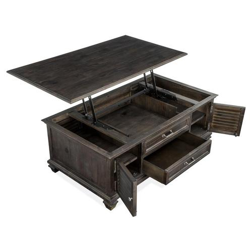 Lift Top Storage Cocktail Table w/Casters