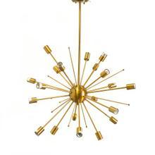 "Edisonna II (38""Ø) Gold Sputnik Twenty Bulb Chandelier"