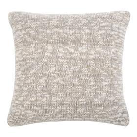 Ralen Knit Pillow - Light Grey/natural/gold Lurex