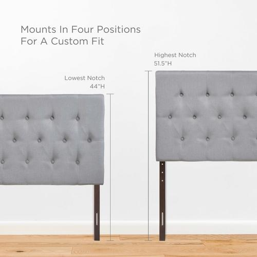 Modway - Clique Full Upholstered Fabric Headboard in Sky Gray