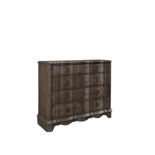 Parliment 8-Drawer Chesser, Distressed Brown