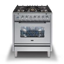 Professional Plus 30 Inch Dual Fuel Liquid Propane Freestanding Range in Stainless Steel with Chrome Trim